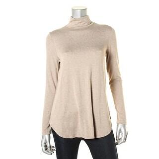 Karen Kane Womens Heathered Long Sleeves Casual Top - S