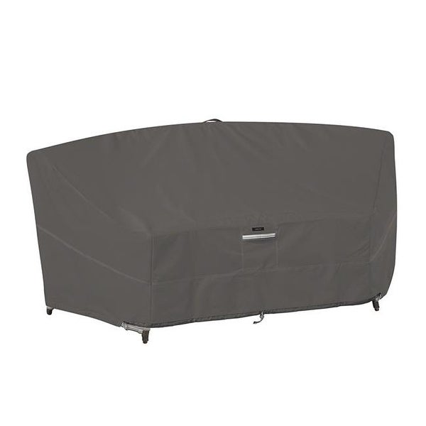 Classic Accessories Curved Patio Sectional Sofa Cover, Taupe