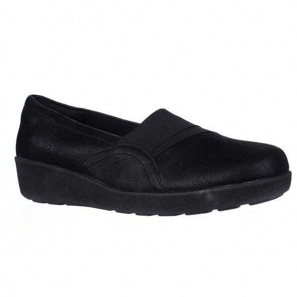 Easy Spirit Kaleo Slip On Comfort Flats, Black/Black