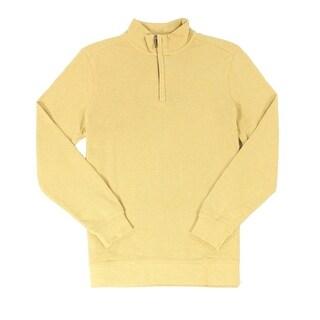 Tasso Elba NEW Honeycomb Yellow Mens Size Small S 1/2 Zip Sweater