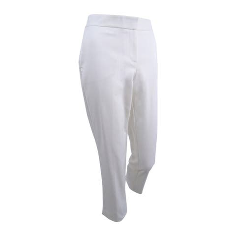 Vince Camuto Women's Flare-Leg Ankle Pants (4, White) - 4