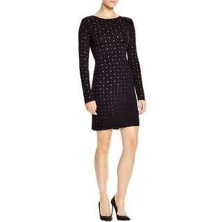 Cynthia Steffe Womens Natasia Cocktail Dress Embellished Long Sleeves