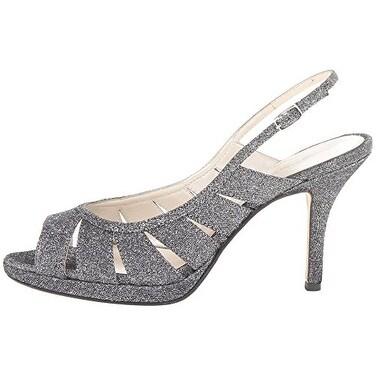 Caparros Womens Karena Glitter Dress Peep-Toe Heels - 5.5