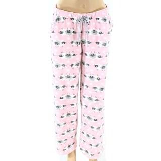 Roudelain NEW Pink Women XL Sheep-Print Fleece Sleepwear Lounge Pants