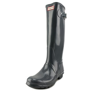 Hunter Org Tall Gloss Round Toe Synthetic Rain Boot