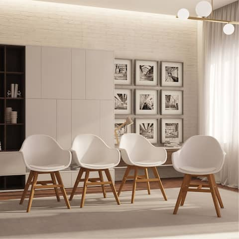 Midtown Concept Wood Dining Chair - With Cushion (Set of 4)