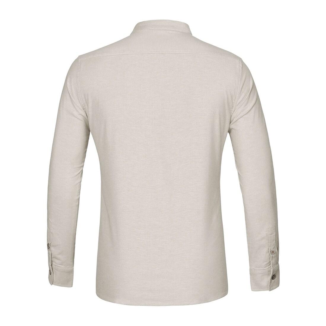 Men/'s Henley Short Sleeve Cotton Shirt Collar Loops Smart Grandad White Black WA