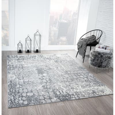 Royal Velvet Bayer Abstract Pebble Low Pile Indoor Area Rug