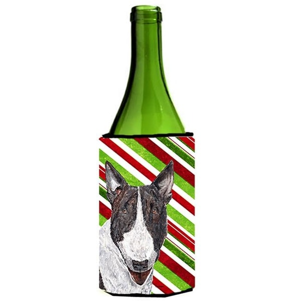 7b669b78a7b3 Shop Bull Terrier Candy Cane Christmas Wine bottle sleeve Hugger - 24 oz. -  Free Shipping On Orders Over  45 - Overstock - 25051938