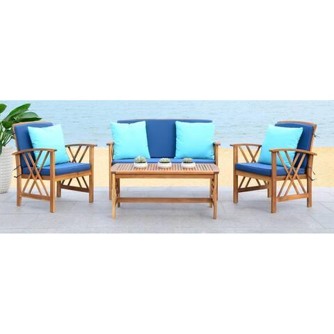 Safavieh Outdoor Living Fontana Navy 4-Piece Set