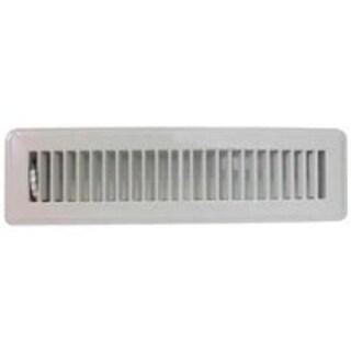 "Mintcraft FR01-2X12W Floor Register, 2"" x 12"", White"