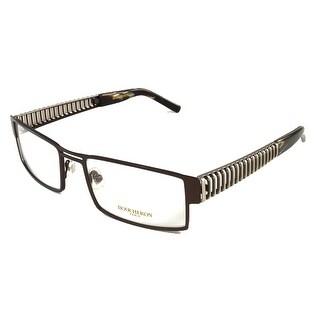Boucheron Unisex Rectangular Eyeglasses Black/Gold - Black - S