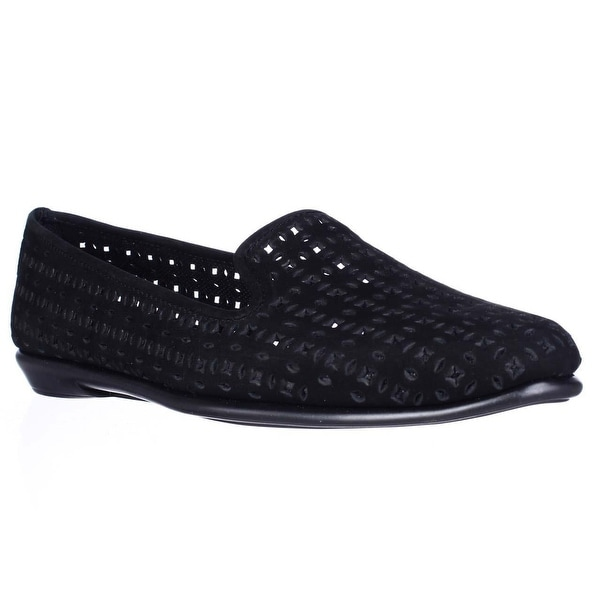 Aerosoles You Betcha Slip-On Perforated Loafers, Black
