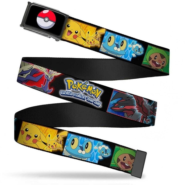 Poke Ball Fcg Chrome Pokemon X & Y Character Blocks Gotta Catch 'Em Web Belt