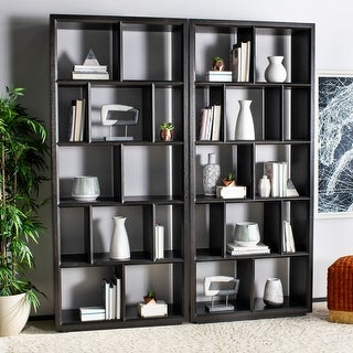Safavieh Couture Kyra Cube Unit Bookcase - Espresso - 39 in w x 16 in d x 90 in h