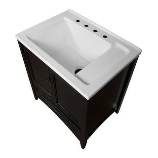 """Miseno MVBL3021 Bovio 30"""" Free Standing Vanity Set - Wood Cabinet and Acrylic Vanity Top with Integrated Laundry Sink - Mirror (2 options available)"""