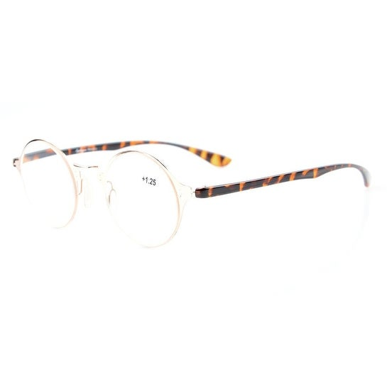 8ccd1cbf20a Shop Eyekepper Lightweight Flex Round Crystal Clear Vision Reading Glasses  Gold+2.75 - Free Shipping On Orders Over  45 - Overstock.com - 16024529