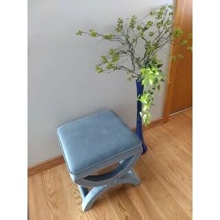 Safavieh Dante X-Bench Blue Ottoman