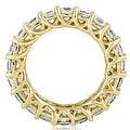 14K Yellow Gold 4.00 cttw. Round Diamond Eternity Ring HI,SI1-2 - Thumbnail 1
