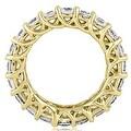 14K Yellow Gold 5.10 cttw. Round Diamond Eternity Ring HI,SI1-2 - Thumbnail 1