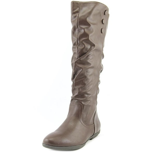 Seven Dials Doris Women Round Toe Synthetic Brown Knee High Boot