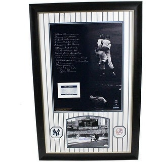 Don Larsen Autographed and Framed Perfect Game Collage with Facsimile Story
