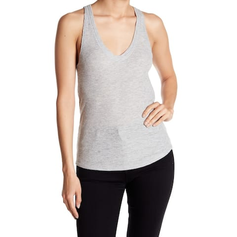 Project Social T Heather Gray Womens Size XS Ribbed Knit Tank Top
