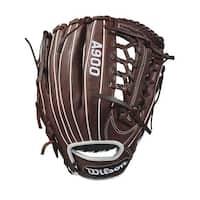 "Wilson 11.75"" A900 Baseball Glove ( Dark Brown/White/ Right Hand Throw )"
