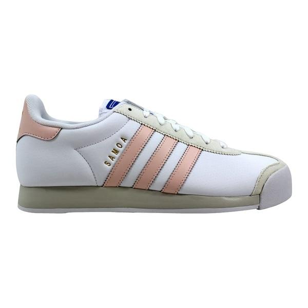 promo code 2a0ab 3857e Adidas Samoa W White Ice Pink Women  x27 s BY3520 Size 9.5 Medium