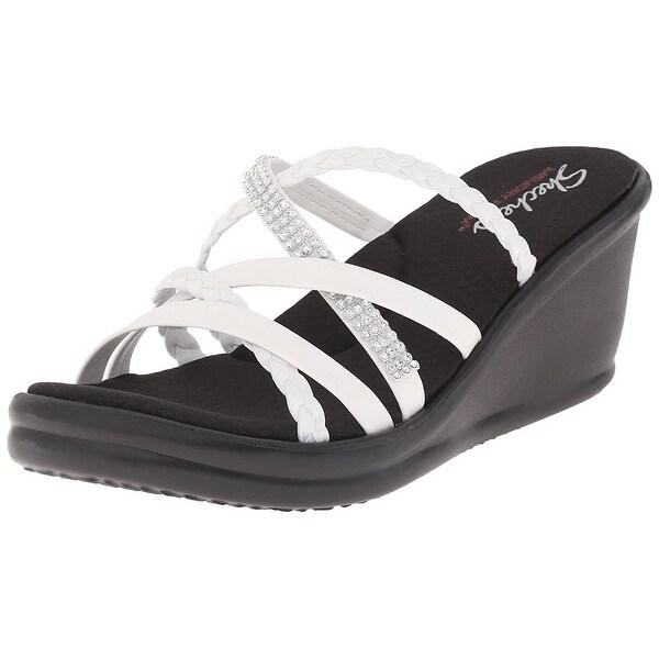 5aae03fa1ca6 Shop Skechers Cali Women s Rumblers Wild Child Wedge Sandal