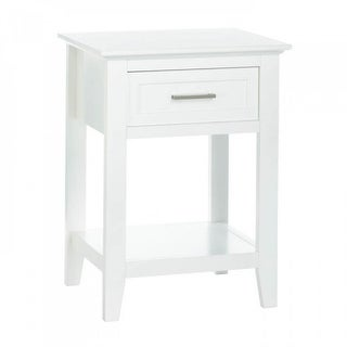 White Crosstown Side Table