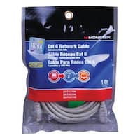 Monster JHIU 140275-00 Cat 6 Network Cable, Gray, 14'