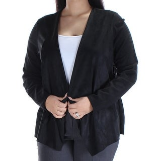 INC $80 Womens New 1504 Black Open Cardigan Blazer Jacket OX Plus B+B