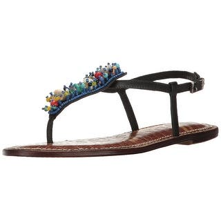 44062fbea Sam Edelman Womens Gabrielle Leather Split Toe Casual Ankle Strap Sandals