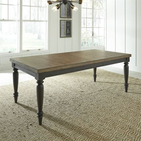 Harvest Home Chalkboard Rectangular Leg Table - Black