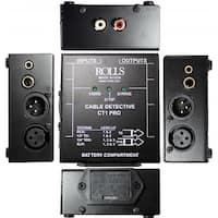 Cable Detective for testing cables between 1/4 TS, 1/4 TRS, RCA, and XLR