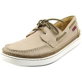 Sebago Ryde Two Eye Men Moc Toe Leather Boat Shoe