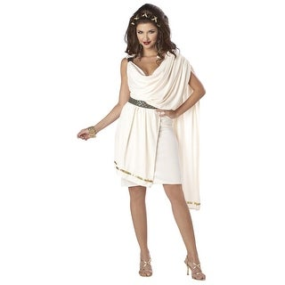 Sexy Deluxe Classic Greek Goddess Toga Costume Adult Large 10-12,Medium 8-10,Small 6-8,X-Large 12-14,X-Small 4-6