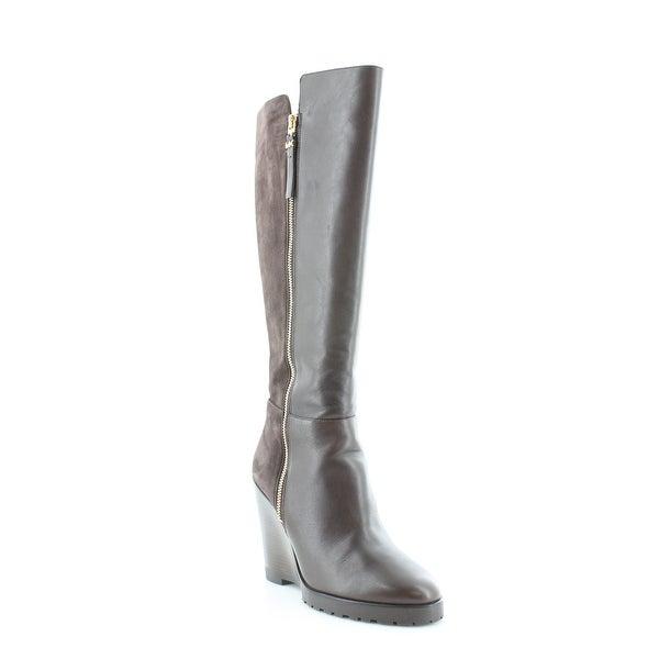 Michael Kors Clara Wedge Boot Women's Boots Coffee