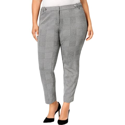Calvin Klein Womens Plus Dress Pants Houndstooth Suit Separate