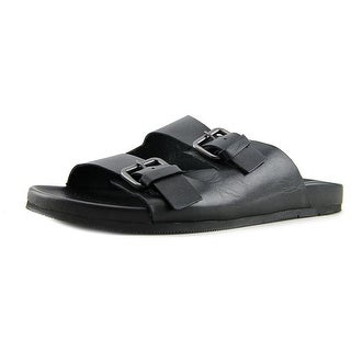 Aldo Grand Champ-97 Open Toe Leather Slides Sandal