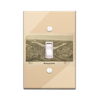 Morgantown, West Virginia - Panoramic Map (Light Switchplate Cover)