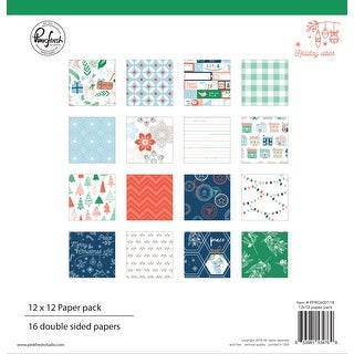 "Pinkfresh Studio Double-Sided Paper Pack 12""X12"" 16/Pkg-Holiday Vibes, 8 Designs/2 Each"