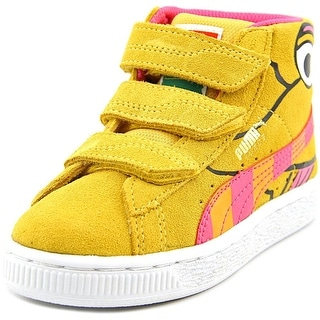 Puma Suede Mid Sesame Elmo V PS Youth Round Toe Suede Yellow Sneakers