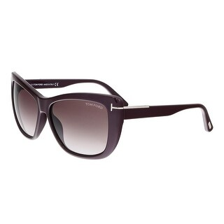 Tom Ford FT0434 83T LINDSAY Purple Rectangular Sunglasses