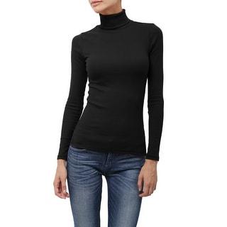 NE PEOPLE Womens Lightweight Basic Long Sleeve Turtleneck Ribbed Shirt