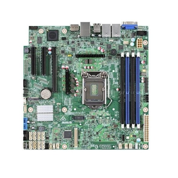 Intel Motherboard Dbs1200spsr Silver Pass Server Board Single Retail