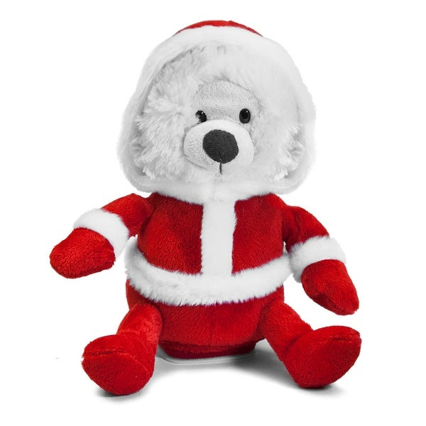 Singing and Dancing Christmas Santa Bear - WHITE/RED - 11.0 in. x 8.0 in. x 7.0 in.