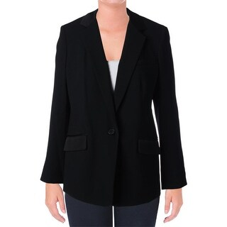 DKNY Womens Notch Collar Lined One-Button Blazer - 10