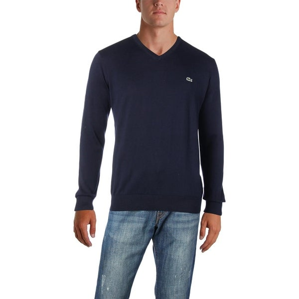9135025034c Shop Lacoste Mens Pullover Sweater Knit V Neck - XL - Free Shipping ...